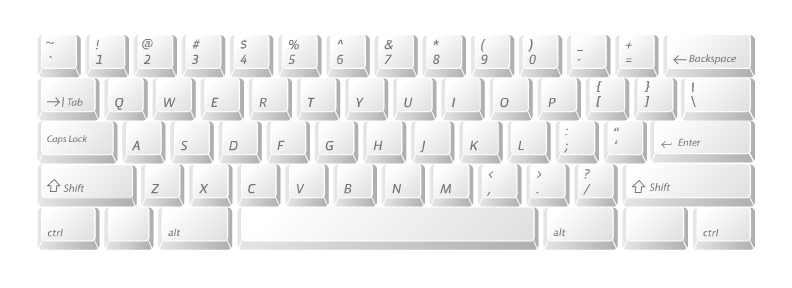 computer keyboard layout. Computer Keyboard