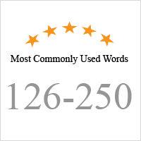 Typing Test: Most Commonly Used Words (126-250)