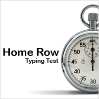 Typing Test: Home Row Keys